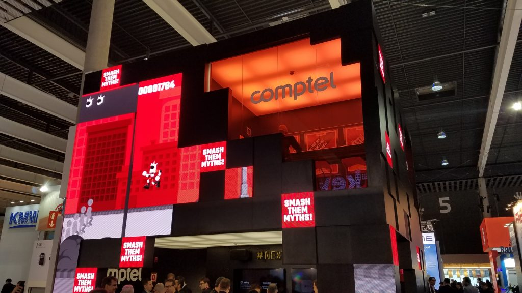 Comptel booth MWC17